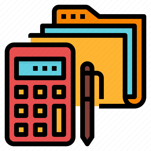 business, financial, organize, records icon