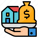 asset, estate, finance, loan, real icon