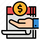 earn, fixed, income, profit icon