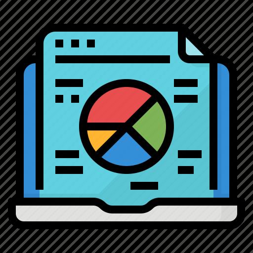 chart, computer, presentation, report icon
