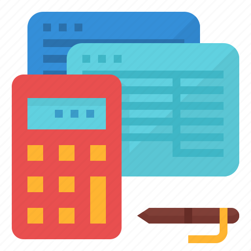 accounting, calculator, financial, ledger icon