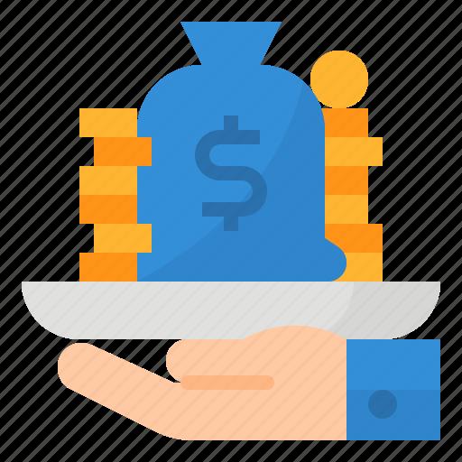 bank, banking, loan, money icon