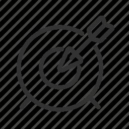 aim, goal, strategy, target icon