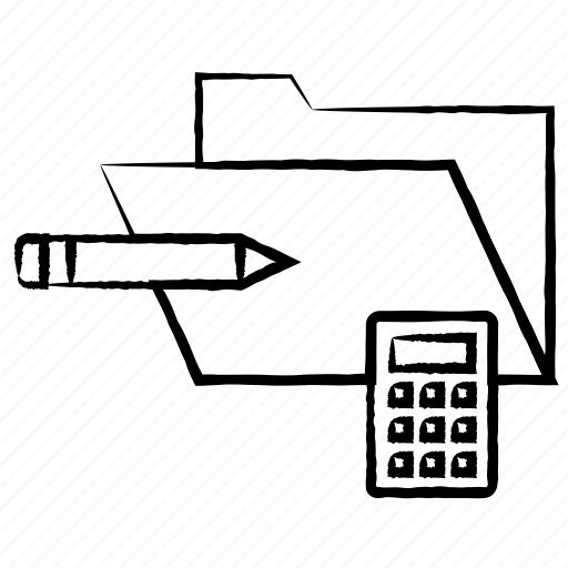 calculations, calculator, folder icon