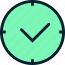 alarm, clock, hour, period, season, timer, watch icon