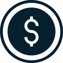 accounting, business, coin, consulting, dollar, financial, money icon