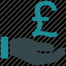 bank, cash, finance, money, pound, purchase, transfer icon