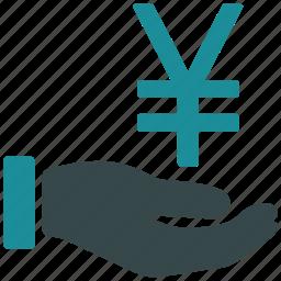 bank, buy, chinese yuan, finance, money, purchase, yen icon