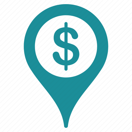 bank, banking, geo, location, map, marker, navigation icon