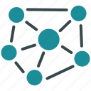 connections, internet, network, social links, structure, system, web icon