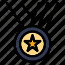 award, medals, performance, ribbon icon