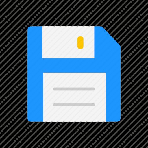 data storage, diskette, file, floppy disk icon