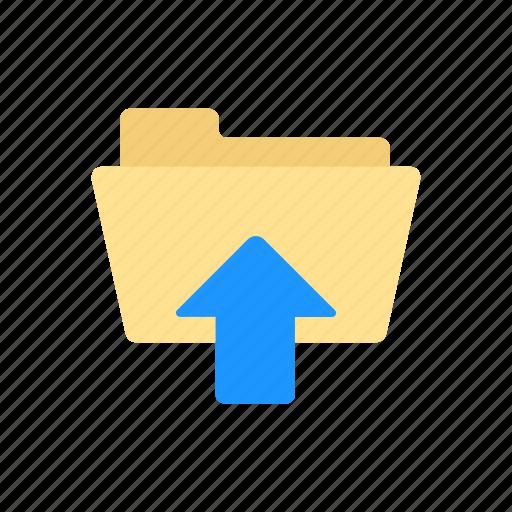 document, folder, upload, upload file icon