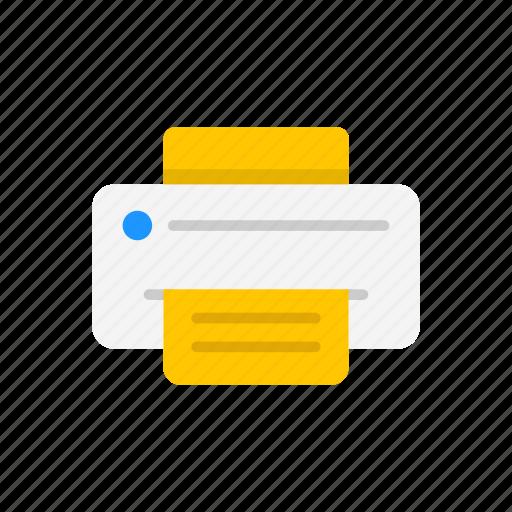 file, print file, printer, scanner icon