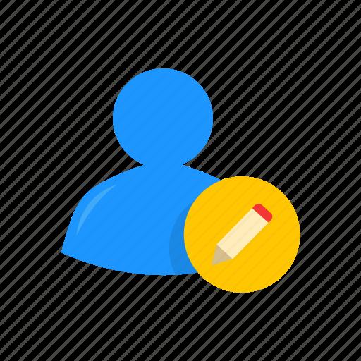create, draw, profile, write post icon