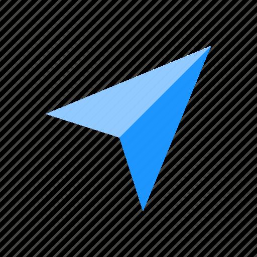 arrow, arrow head, paper plane, plane icon