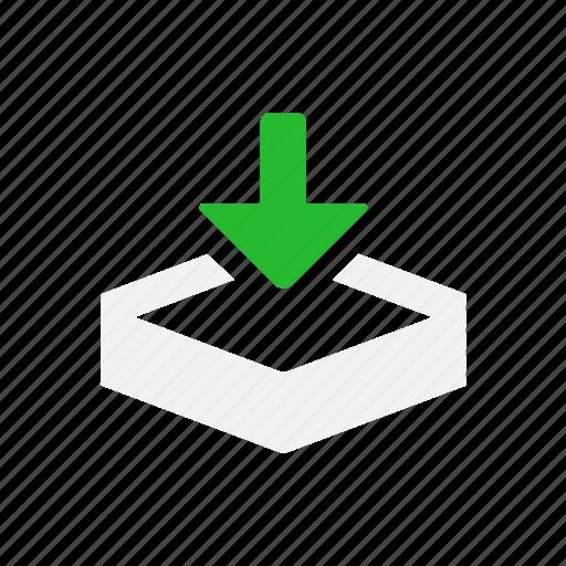 arrow down, download, download file, file icon