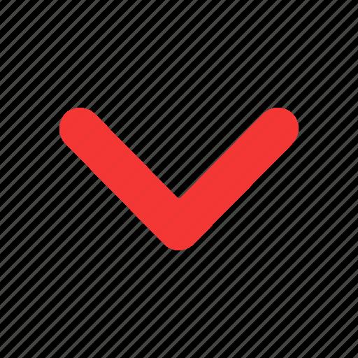 arrow down, arrow head, navigate, pointer icon