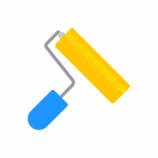 brush, color tool, paint brush, paint roller icon