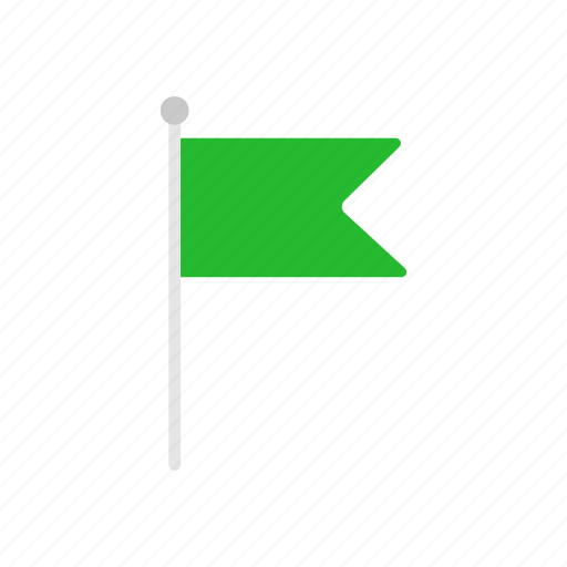 banner, flag, green flag, notification icon