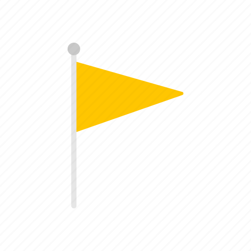 banner, flag, notification, yellow flag icon