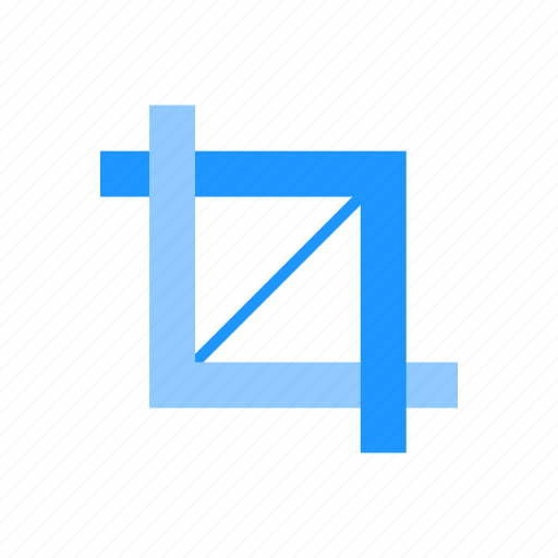 crop, crop tool, lines, select icon