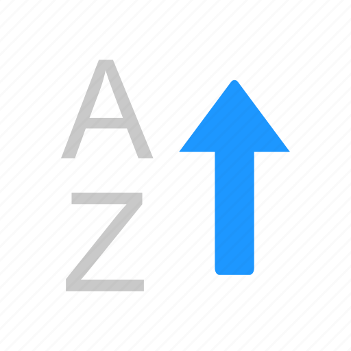 alphabet, arrow up, ascending, letter icon