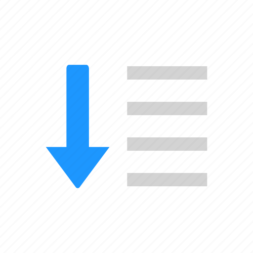 Arrow down, descending, down, lines icon - Download on Iconfinder
