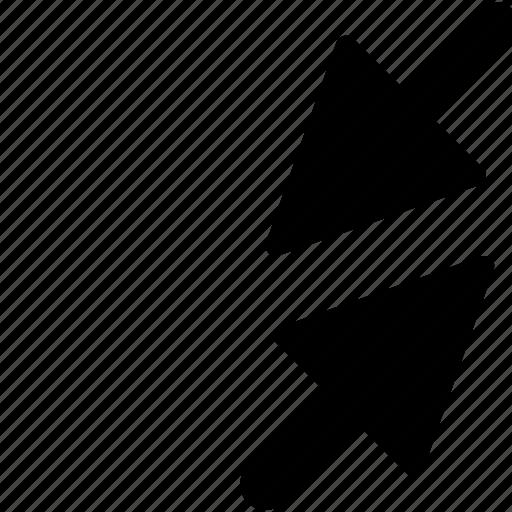 arrows, expand, outward, points arrows, spread icon