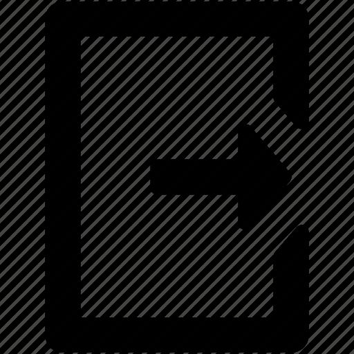 arrow, entering, left arrow, login, login arrow, multimedia icon