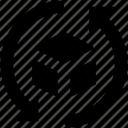 cubes, loading, refresh, sync, synchronization icon