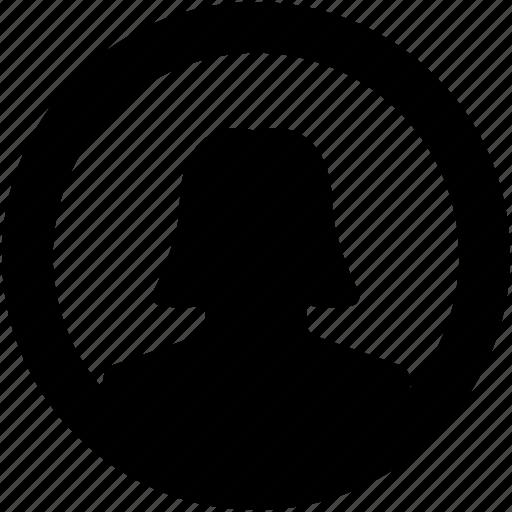 avatar, female user, profile avatar, user, user avatar icon