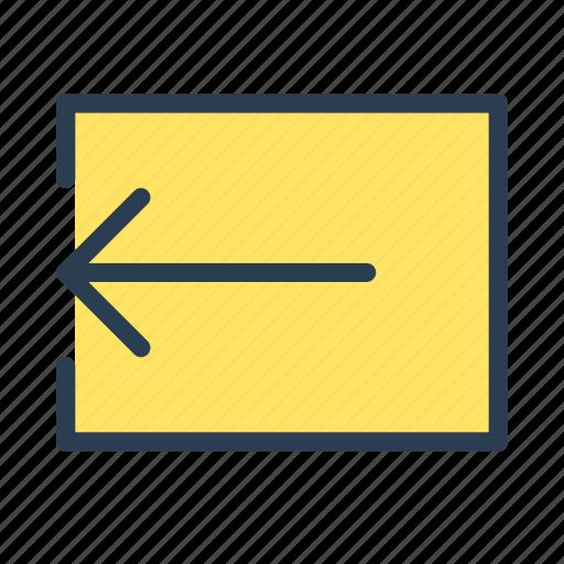 action, arrow, left, logout, move icon