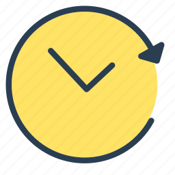 action, arrow, history, time, update icon