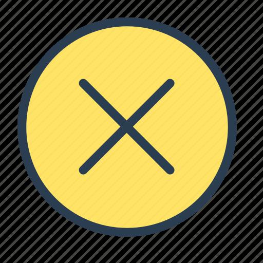 action, close, delete, dismiss, remove icon