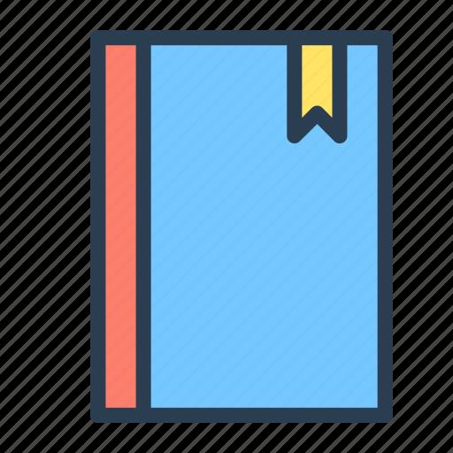 action, book, bookmark, literature, read, school icon