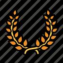 award, decoration, laurel, prize, trophy, wreath, reward