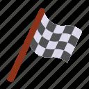 flag, checkered, auto, racing, race, winner, sport