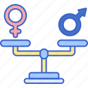 equality, gender, scale