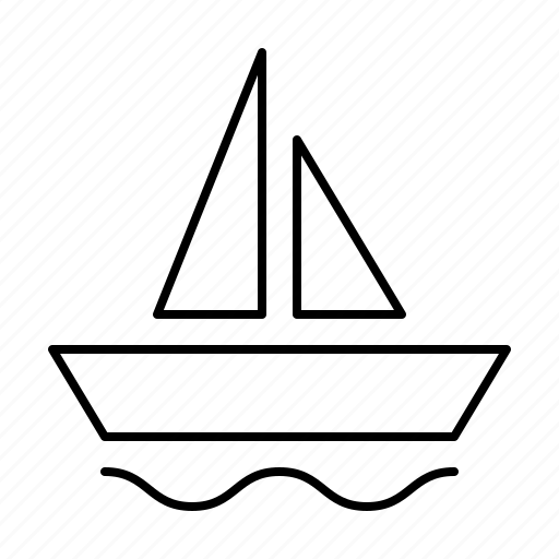 activities, free, hobby, holiday, leisure, sailing, time icon