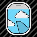 clouds, flight, plane, transport, window