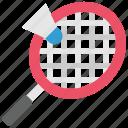 activity, badminton, game, racket, shuttlecock, sport, sports icon