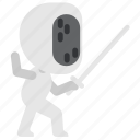 activity, competitions, fencing, sport, swordplay icon