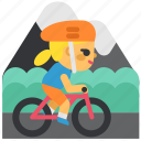 activity, competitions, cyclist, mountain bike, sport, sports icon