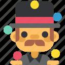activity, circus, clown, funster, juggler, sport