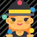 activity, circus, clown, harlequin, juggler, sport