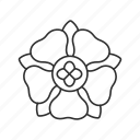 chain stitch, decoration, flower, flower design, funeral decoration, rose, rosette icon