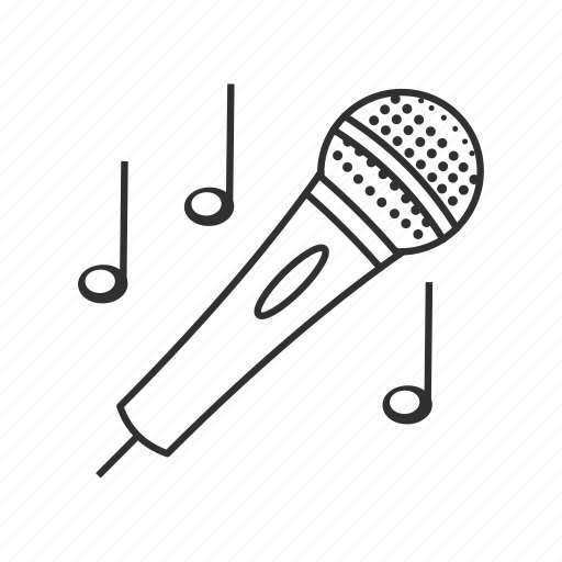 broadcasting, mic, microphone, music, notes, sing, song icon