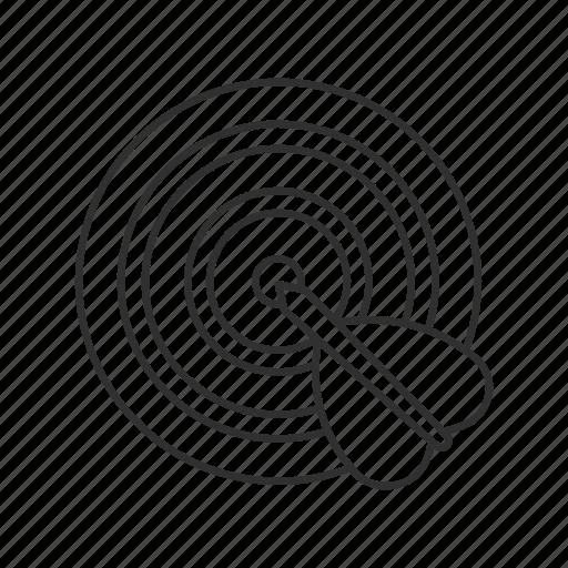 bull's eye, bullseye, dart, dartboard, marketing, target, target market icon