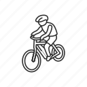 bicycle, bike, biker, cycling, mountain bike, sports, travel icon